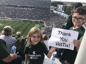 Glen attended Michigan State Spartans vs. Indiana - NCAA Football on Oct 21st 2017 via VetTix