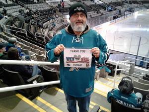 RAYMOND attended San Jose Sharks vs. New York Rangers - NHL - Alternate Jersey Auction - Military Appreciation on Jan 25th 2018 via VetTix