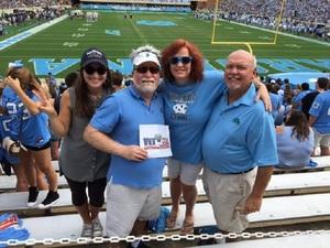 Chris attended University of North Carolina Tar Heels vs. Notre Dame - NCAA Football on Oct 7th 2017 via VetTix