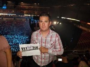 Esequiel attended Soul2Soul Tour With Tim McGraw and Faith Hill on Sep 29th 2017 via VetTix