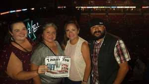 Becky attended Soul2Soul Tour With Tim McGraw and Faith Hill on Sep 29th 2017 via VetTix