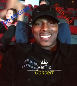 Marlon attended Soul2Soul Tour With Tim McGraw and Faith Hill on Oct 5th 2017 via VetTix