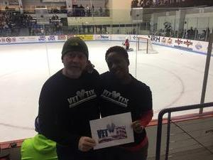 The Briggs Family attended Lone Star Brahmas vs. Odessa Jackalopes - NAHL on Oct 28th 2017 via VetTix