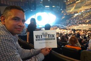John attended Katy Perry Witness World Tour on Oct 2nd 2017 via VetTix