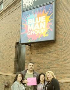John attended Blue Man Group - Chicago on Oct 15th 2017 via VetTix