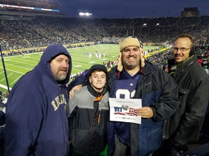 Click To Read More Feedback from Notre Dame Fighting Irish vs. North Carolina State - NCAA Football