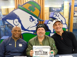 Wayne attended Notre Dame Fighting Irish vs. Navy - NCAA Football on Nov 18th 2017 via VetTix