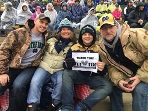Click To Read More Feedback from Notre Dame Fighting Irish vs. Wake Forest - NCAA Football - Military Appreciation Game