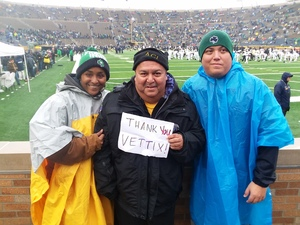 George attended Notre Dame Fighting Irish vs. Wake Forest - NCAA Football - Military Appreciation Game on Nov 4th 2017 via VetTix