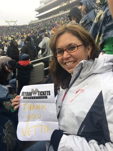 Nicholas attended Notre Dame Fighting Irish vs. Wake Forest - NCAA Football - Military Appreciation Game on Nov 4th 2017 via VetTix