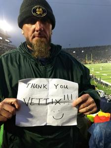 John attended Notre Dame Fighting Irish vs. Wake Forest - NCAA Football - Military Appreciation Game on Nov 4th 2017 via VetTix