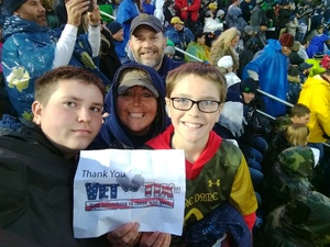 Michael attended Notre Dame Fighting Irish vs. Wake Forest - NCAA Football - Military Appreciation Game on Nov 4th 2017 via VetTix