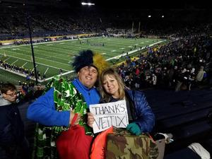 Joseph attended Notre Dame Fighting Irish vs. Wake Forest - NCAA Football - Military Appreciation Game on Nov 4th 2017 via VetTix