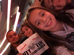 Z attended Katy Perry: Witness the Tour With Noah Cyrus on Oct 12th 2017 via VetTix