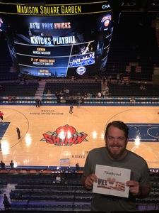 Brandon attended New York Knicks vs. Houston Rockets - Pre-season NBA on Oct 9th 2017 via VetTix