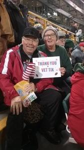 Thomas attended Green Bay Packers vs. Detroit Lions - NFL on Nov 6th 2017 via VetTix