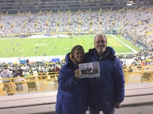 Lori attended Green Bay Packers vs. Detroit Lions - NFL on Nov 6th 2017 via VetTix