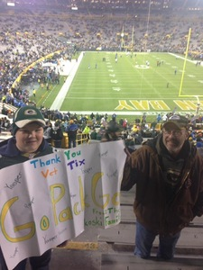 Jon attended Green Bay Packers vs. Detroit Lions - NFL on Nov 6th 2017 via VetTix