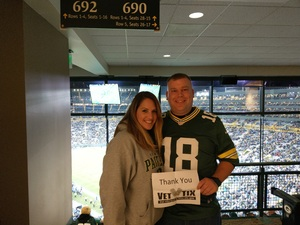 Daniel attended Green Bay Packers vs. Detroit Lions - NFL on Nov 6th 2017 via VetTix