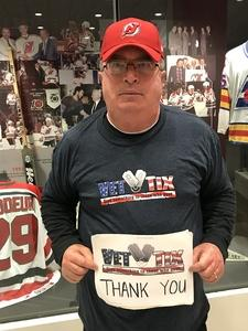 Robert attended New Jersey Devils vs. Arizona Coyotes - NHL on Oct 28th 2017 via VetTix