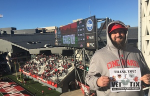 JAYSON attended University of Cincinnati vs. UCONN - NCAA Football on Nov 25th 2017 via VetTix