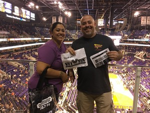 Anthony attended Phoenix Suns vs. Portland Trail Blazers - NBA - Home Opener! on Oct 18th 2017 via VetTix