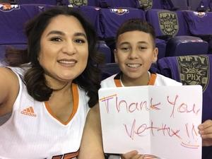 Christina attended Phoenix Suns vs. Portland Trail Blazers - NBA - Home Opener! on Oct 18th 2017 via VetTix