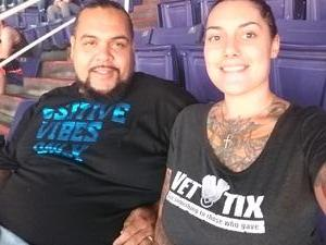 olivia attended Phoenix Suns vs. Brooklyn Nets - NBA on Nov 6th 2017 via VetTix