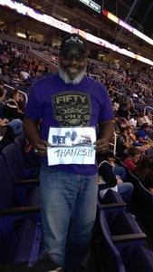 Perry attended Phoenix Suns vs. Brooklyn Nets - NBA on Nov 6th 2017 via VetTix
