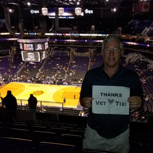 PhilR9 attended Phoenix Suns vs. Brooklyn Nets - NBA on Nov 6th 2017 via VetTix