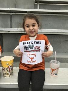 Click To Read More Feedback from Texas Longhorns vs. Kansas - NCAA Football - Military Appreciation Night