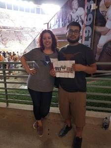 JONATHAN attended Texas Longhorns vs. Kansas - NCAA Football - Military Appreciation Night on Nov 11th 2017 via VetTix