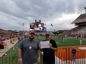 justin attended Texas Longhorns vs. Kansas - NCAA Football - Military Appreciation Night on Nov 11th 2017 via VetTix
