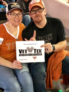 Robert attended Texas Longhorns vs. Kansas - NCAA Football - Military Appreciation Night on Nov 11th 2017 via VetTix