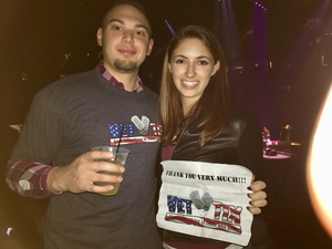 Vince attended Soul2Soul Tour With Faith Hill and Tim McGraw on Oct 27th 2017 via VetTix