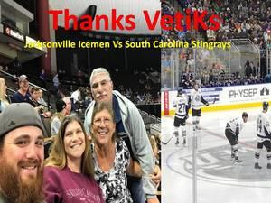 Salvatore attended Jacksonville Icemen vs. South Carolina Stingrays - ECHL on Oct 21st 2017 via VetTix
