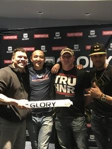 Tika attended Glory 48 New York - Presented by Glory Kickboxing - Live at Madison Square Garden on Dec 1st 2017 via VetTix