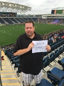 William attended Philadelphia Union vs. Orlando City SC - MLS on Oct 22nd 2017 via VetTix