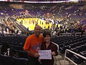 Frederick attended Phoenix Suns vs. Miami Heat - NBA on Nov 8th 2017 via VetTix