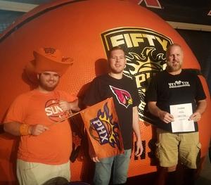 Don attended Phoenix Suns vs. Miami Heat - NBA on Nov 8th 2017 via VetTix