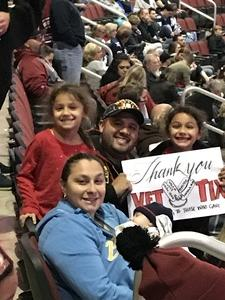 Click To Read More Feedback from Arizona Coyotes vs. Winnipeg Jets - NHL - Military Appreciation Game!