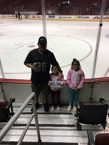 Jose attended Arizona Coyotes vs. Winnipeg Jets - NHL - Military Appreciation Game! on Nov 11th 2017 via VetTix