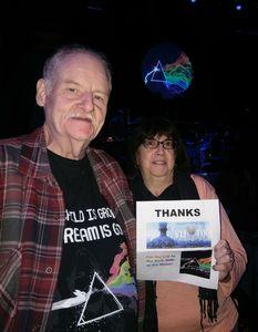 Don attended Echos - Pink Floyd Tribute on Dec 1st 2017 via VetTix