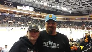 William attended Kansas City Mavericks vs. Wichita Thunder - Veterans Day - ECHL on Nov 11th 2017 via VetTix