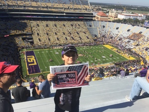 Click To Read More Feedback from LSU Tigers vs. Arkansas - NCAA Football - Military Appreciation