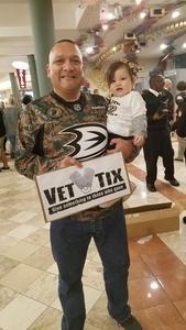Ruben attended Anaheim Ducks vs. Vancouver Canucks - NHL - Military Appreciation Night! on Nov 9th 2017 via VetTix