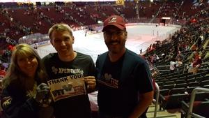Michael attended Arizona Coyotes vs. Carolina Hurricanes - NHL - Military Appreciation Game! on Nov 4th 2017 via VetTix