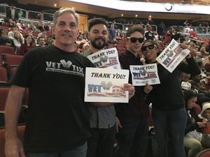 Click To Read More Feedback from Arizona Coyotes vs. Carolina Hurricanes - NHL - Military Appreciation Game!