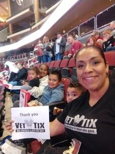 Alysea attended Arizona Coyotes vs. Carolina Hurricanes - NHL - Military Appreciation Game! on Nov 4th 2017 via VetTix