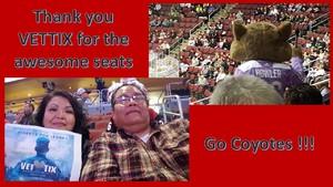 Harry attended Arizona Coyotes vs. Carolina Hurricanes - NHL - Military Appreciation Game! on Nov 4th 2017 via VetTix